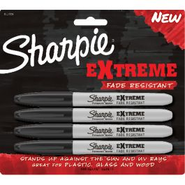 Sharpie Extreme Permanent Markers 4/Pkg Black - 1927436