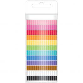 Doodlebug Monochromatic Washi Tape 8Mmx12Yds 12/Pkg Stripe - MONOWT-4801