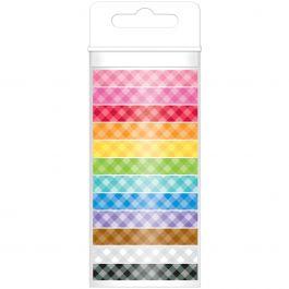 Doodlebug Monochromatic Washi Tape 8Mmx12Yds 12/Pkg Gingham - MONOWT-4803