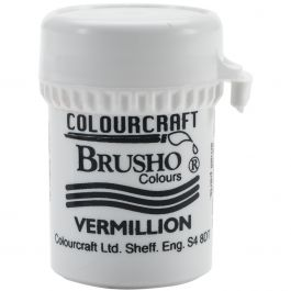 Brusho Crystal Colour 15G Vermilion - BRB12-V