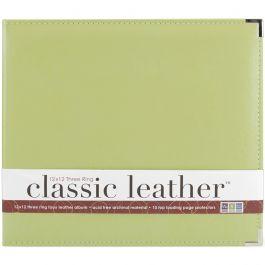 "We R Classic Leather D Ring Album 12""X12"" Kiwi - WRRING12-60916"