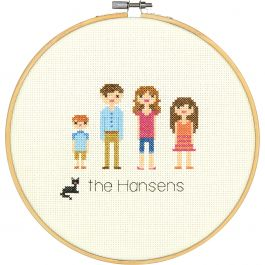 """Dimensions Counted Cross Stitch Kit 8"""" Round 8"""" Round 14 Count - 70-35332"""