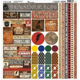 """Wizard Cardstock Stickers 12""""X12""""  - WIZA100"""