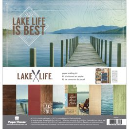 "Paper House Paper Crafting Kit 12""X12"" Lake Life - KTSP1027"