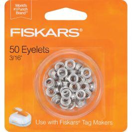 """Fiskars Tag Maker Eyelets 50/Pkg Silver 3/16"""" - 97700"""