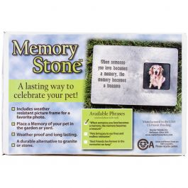 Memory Stone Marker W/Poem Large Gray - PMM