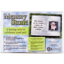 Memory Stone Marker W/Poem Large Gray - PMM