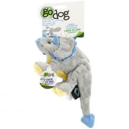Godog Dinos Frills With Chew Guard Small Gray - 770798
