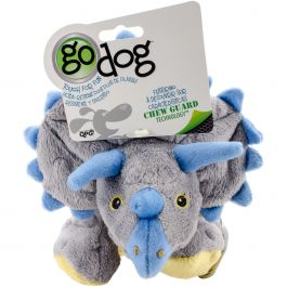 Godog Dinos Frills With Chew Guard Large Gray - 770795