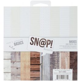 """Simple Stories Double Sided Paper Pad 6""""X6"""" 24/Pkg Sn@P! Color Vibe Basics Wood & Notebook - SNAP2853"""