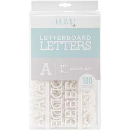 "Dcwv Letterboard Letters & Characters 1"" 188/Pkg White - LP006-15"