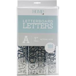 "Dcwv Letterboard Letters & Characters 1"" 188/Pkg Silver - LP006019"