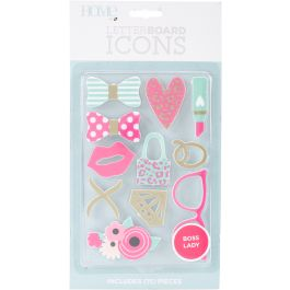 Dcwv Letterboard Icons 14/Pkg Boss Lady/Office - LP00600-36