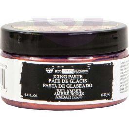 Finnabair Art Extravagance Icing Paste 120ml Jar-Red Amber