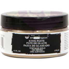 Finnabair Art Extravagance Icing Paste 120ml Jar-Antique Gold