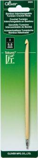 Clover Bamboo Interchangeable Tunisian Crochet Hook Size I/5.5Mm (Takumi) - 3695