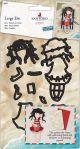 Santoro'S Gorjuss Decorative Dies Postal Summer Days, 9 Pieces - GO503007