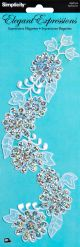 Wrights Iron On Applique Sequin Flowers - 193 0107