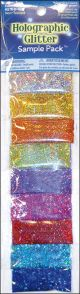 Glitter Sample Pack 2G 9/Pkg Holographic - 6654-97