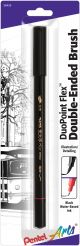 Pentel Arts Duopoint Flex(Tm) Double Ended Brush Pen Black Ink - SFW34BPA
