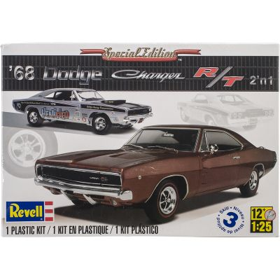 Plastic Model Kit-'68 Dodge Charger 2-In-1 1:25