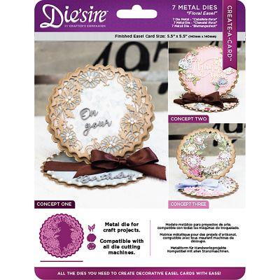 Die'Sire Create A Card Easel Metal Die Floral - CADFLOE