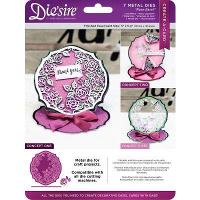 Die'Sire Create A Card Easel Metal Die Rose Flowers - CADROSEE