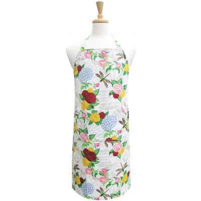 Two Lumps Of Sugar Adult Chef Apron Rose Dragonfly - APR0100-4405