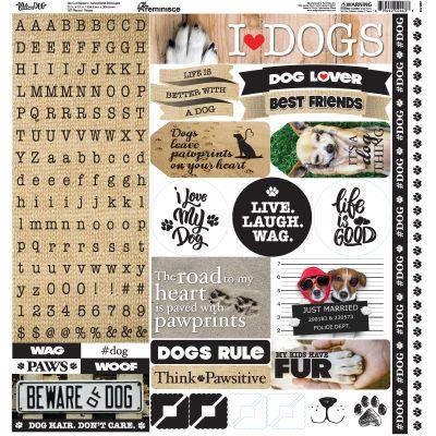 Love My Dog Alpha Stickers 12