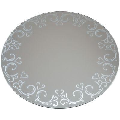 Round Glass Mirror W/Pattern Edge Bulk 12