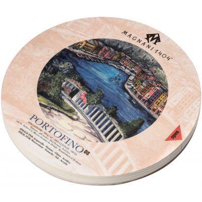 Magnani Aquarello Portofino Round Water Color Block 6.3