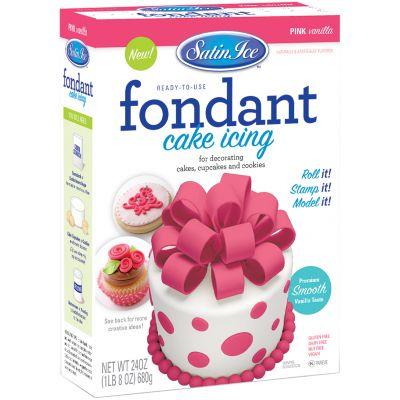 Satin Ice Packaged Fondant 24 Oz Pink Vanilla - SI100-36