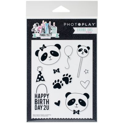 Photoplay Paper Etched Dies Cake Panda Party - CPP2917
