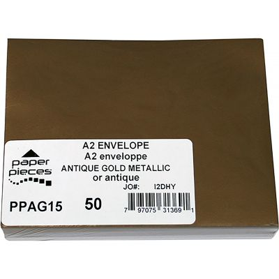 Leader A2 Metallic Envelopes 50/Pkg Antique Gold - PPA2M-AG15
