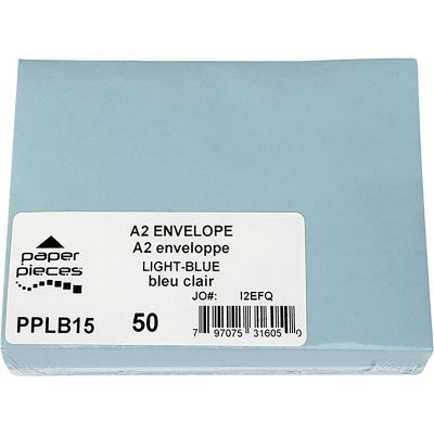 Leader A2 Envelopes 50/Pkg Light Blue - PPA2X-LB15
