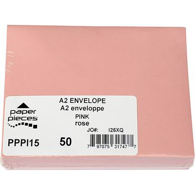 Leader A2 Envelopes 50/Pkg Pink - PPA2X-PI15