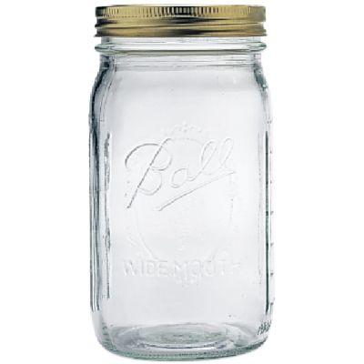 Ball(R) Wide Mouth Canning Jar 12/Pkg Quart, 32Oz - 67000