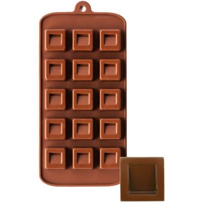 Ny Cake Silicone Chocolate Mold Dimpled Square - SCM015