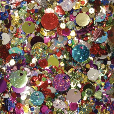 Sequins & Spangles 4Oz Assorted Shapes & Colors - 6114