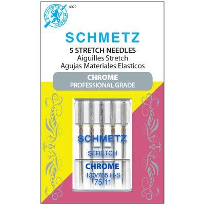 Schmetz Chrome Stretch Machine Needles-Size 75/11 5/Pkg