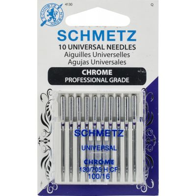 Schmetz Chrome Universal Machine Needles-Size 100/16 10/Pkg