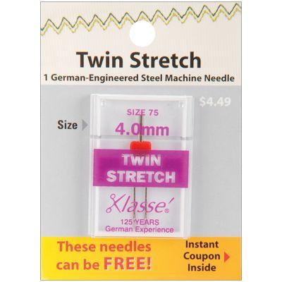 Klasse Twin Stretch Machine Needle Size 4.0Mm/75 1/Pkg - A5156-4075