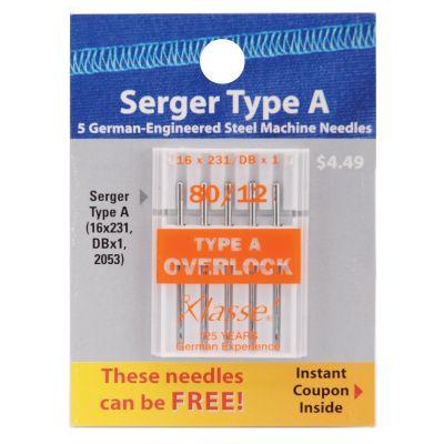 Klasse Serger Machine Needles Size 12/80 Dbx1 5/Pkg - A5170-8012A