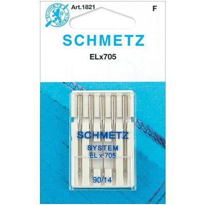 Schmetz Elx705 Serger Needles Size 14/90 5/Pkg - 1821