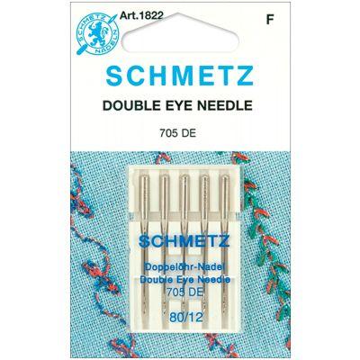 Schmetz Double Eye Machine Needles Size 12/80 5/Pkg - 1822