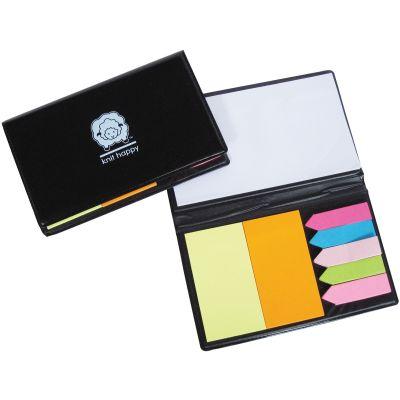 K1C2 Knit Happy Sticky Note Organizer Black - KH326