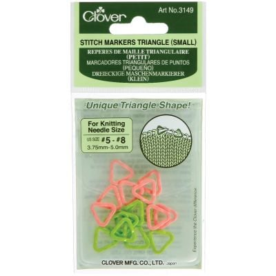 Triangle Stitch Markers Sizes 5 To 8 16/Pkg - 3149