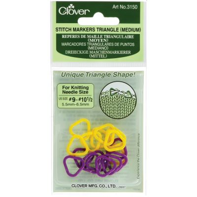 Triangle Stitch Markers Sizes 9 To 10.5 16/Pkg - 3150