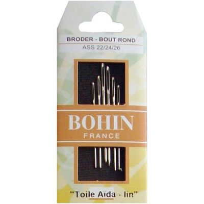 Bohin Tapestry Hand Needles Size 22/24/26 6/Pkg - 008-880