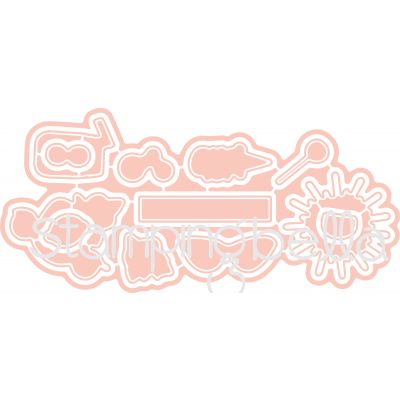 Stamping Bella Cut It Out Dies Ice Cream & Lemonade - CIO513